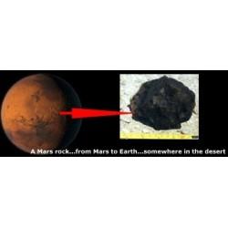 Frame With Moon & Mars Rocks