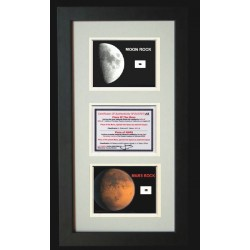 Frame With Moon & Mars Rocks